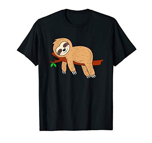 T Shirt Faultier Kinder Jungen Mädchen Damen Herren Sloth T-Shirt