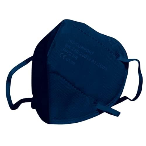 SALO MED 20x Masken FFP2 Blau - CE zertifiziert 0598 - Einzeln verpackt in Beuteln - Schützend 5-Lagen-Maske - BFE 99% Filterung - Box 20 Stück