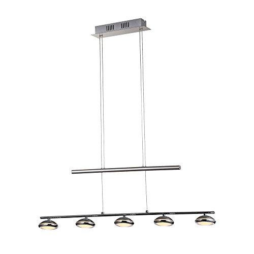 Stylehome Lampadario a LED da lettura lampadario da soffitto, Lampadario regolabile in altezza, 5x 5W bianco caldo SH8335–05B–D48046
