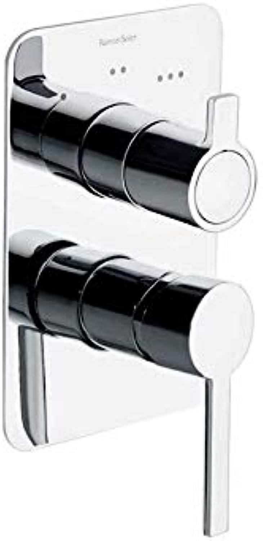 Ramón Soler 331503S 3-Way Freestanding Bathroom Mixer Without Shower Equipment, Drako Model, Chrome