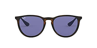 Ray-Ban RB4171 Erika Round Sunglasses, Tortoise/Violet, 54 mm