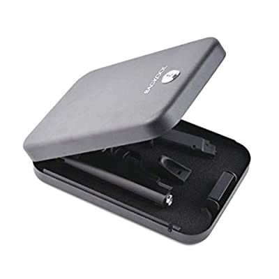 Pistol Safe,Portable Metal Travel Gun Safe Handgun Lock Security Box Case with Key Lock