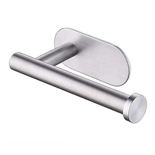 Portarrollos para Papel Higiénico adhesivo 3M,Porta Rollos de Papel Higienico acero inoxidable, no requiere perforación, fuerte adherencia y resistente al agua. por BIIYOOVE