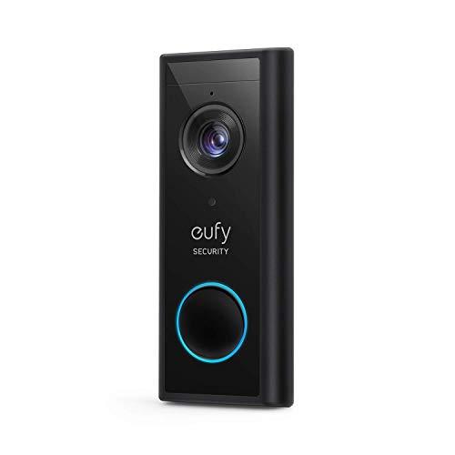 eufy Security, Kabellose Video-Türklingel mit Akku, 2K HD, ohne monatliche Gebühren, smarte Personenerkennung, beidseitige Audiofunktion (HomeBase 2 notwendig) (Generalüberholt)