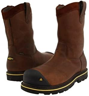 [キーン] Utility メンズ 男性用 シューズ 靴 ブーツ 安全靴 ワーカーブーツ Dallas Wellington - Dark Brown [並行輸入品]