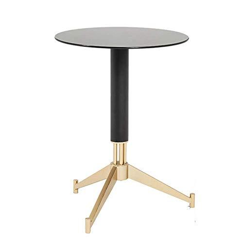 Carl Artbay Home & Selected furnituur/bijzettafel, woonkamer zwart gehard glas salontafel, sofa-hoek tafel, balkon vrije tijd kleine ronde tafel, 22 inch, 23,6 inch