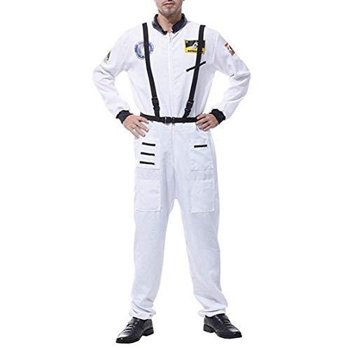 wetry Astronauten Kostüm Erwachsene Kinder Raumfahrer Kostüm Cosplay Overall mit Gürtel für Halloween Weihnachten Karneval