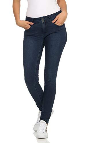 Buena Vista Damen Jeans Tummyless Stretch Darkblue
