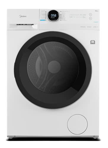 Midea WT 7.860 iN Waschtrockner / 47,5cm tief Slim Design / 8/6kg Waschen/Trocknen / Steam Care / BLDC-Inverter-Motor / 1500 U/min / Nachlegefunktion / 60 Min. Waschen & Trocknen, Weiß, Crown