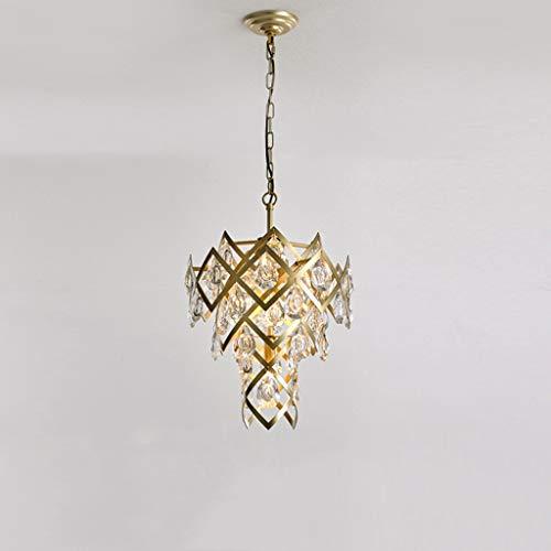 Chandelier tribe CSQ Restaurante Decoración de la lámpara, espumoso araña de Cristal de 37,5 * 52cm 3 Cabezas de la lámpara Colgante, Postmodern Pétalo Sombra de la lámpara de Techo iluminación