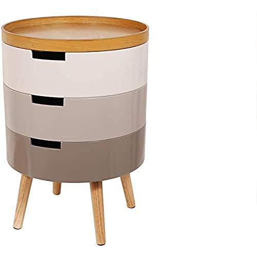 Home Deco Factory Nachttisch, Holz, Grau, 38 x 55 x 38 cm
