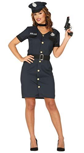 Guirca sexy Polizistin Kostüm für Damen Größe M-L - Fasching Karneval, Größe:L