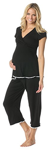 Majamas Women's Maternity Lacey Cropped Mj-Picante