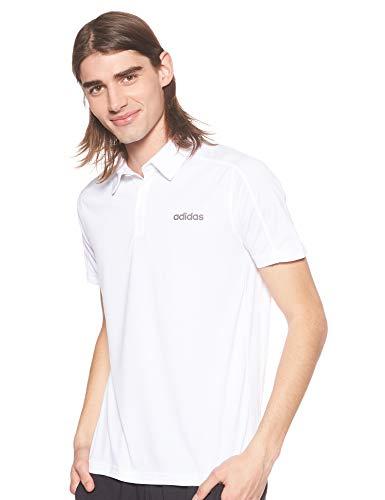 adidas Herren Design 2 Move Climacool Poloshirt, kurzärmelig M weiß