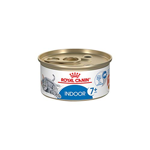 Royal Canin Feline Health Nutrition Indoor 7+ Morsels in Gravy Canned Cat Food, 3 oz (Pack of 24)