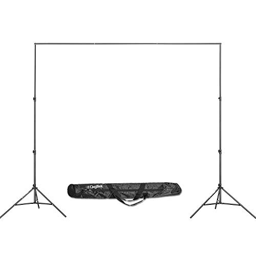 DIGITEK® (DBSK-009FT) Studio Background Stand Kit for Backdrop Photography and Videography | Portable and Foldable Stand Kit with Bag