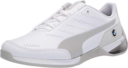 PUMA Men's Tazon 6 FM Running Shoe (Puma White-Gray Violet, Numeric_10)