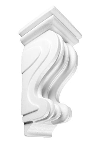 1 Konsole | Stuck | Dekorativ | EPS | Wand Dekor | weiß | 12x23cm | K-03