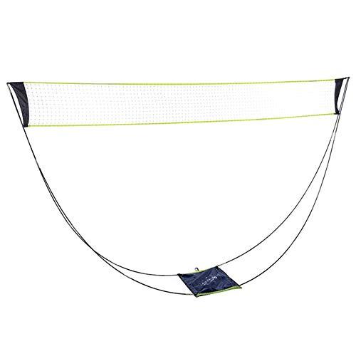 Fuyamp Edwiin Byron tragbares Badminton-Netz-Set mit Ständer, Tragetasche, faltbares Volleyball-Tennisnetz, abnehmbares Badminton-Netz für drinnen und draußen, 0, 3 m