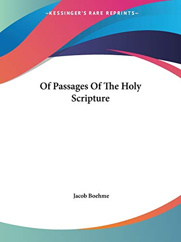 Of Passages of the Holy Scripture PDF Books