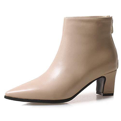 SHZSMHD spitse vierkante hiel vrouwen laarzen mode gesp laarzen vrouwen schoenen ritssluiting hoge hak laarzen vrouwen grote kleuren