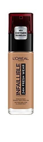 L'Oréal Paris Infaillible 24H Fresh Wear Make-up 320 Toffee, hohe Deckkraft, langanhaltend, wasserfest, atmungsaktiv, 30ml