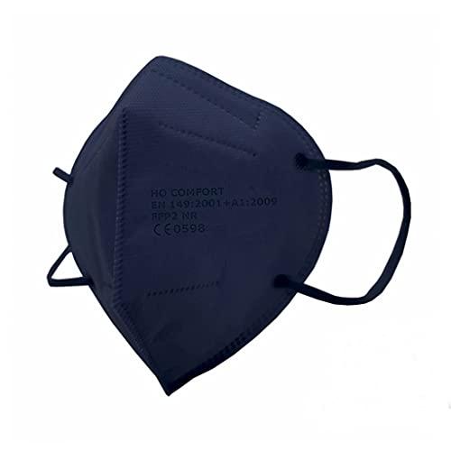 SALO MED 20 Mascherine FFP2 BLU Navy – Certificate CE 0598 – Confezionate Singolarmente – Mascherina 5 Strati – Protezione con filtraggio BFE 99% - Box 20pz