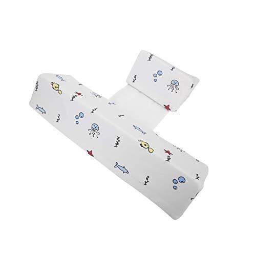 Baby Kissen, baby lagerungskissen Einstellbare 45° Dreieck Baby Kopfkissen,Vorbeugung Flachkopf-Syndrom Bambusfaser Memory Baumwolle Baby eitenkissen
