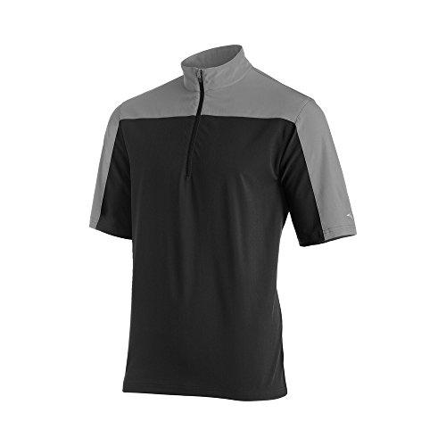 Mizuno Men's Comp Short sleeve Batting Jacket, Black/Grey, XX-Large