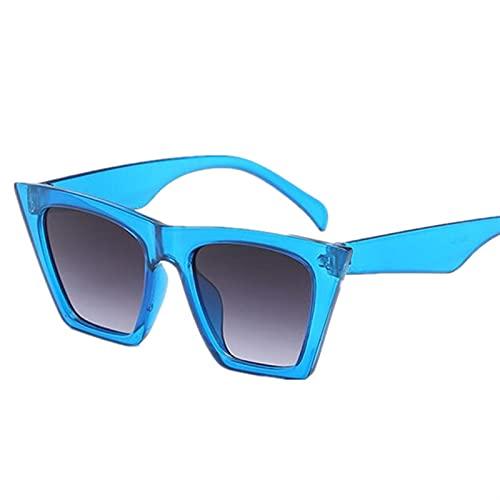 SLAKF Gafas duraderas Pequeño Triángulo Cateye Lindo Sexy Retro Cateye Gafas de Sol Mujeres Pequeñas Vintage Blanco Blanco Vintage (Lenses Color : C3)