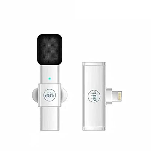 Mini micrófono de Solapa inalámbrico para Youtube, Facebook, transmisión en Vivo, grabación de Video, micrófono de Solapa Plug-Play, 10 Horas de Tiempo de Trabajo, sincronización automática