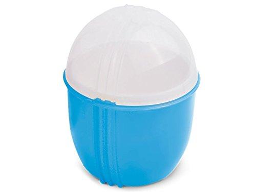 Durandal Eierkocher Mikrowelle | Crackin' Egg Mikrowellen Eierkocher | Ideal zum pochieren & als Omelettmaker | 100% BPA frei | Wichtelgeschenke