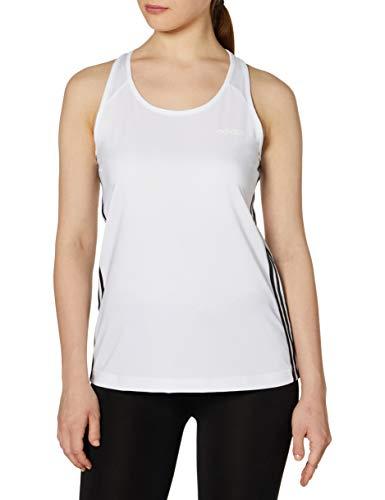 adidas Design 2 Move 3 Bandas Camiseta de Tirantes, Mujer, Blanco (White/Black), M