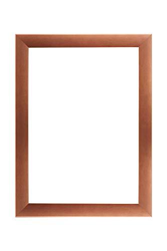 EUROLine35 mm Bilderrahmen für 58 x 50 cm Bilder, Farbe: Kupfer, inkl. entspiegeltem Acrylglas und MDF Rückwand, Rahmen Breite: 35 mm, Außenmaß: 63,8 x 55,8 cm