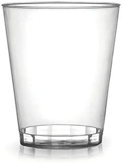 Paquete de 40 - Vasos de plástico duro   Vidrio transparente para fiestas - 200 ml (7 oz)