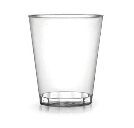 Paquete de 40 - Vasos de plástico duro | Vidrio transparente para fiestas - 200 ml (7 oz)