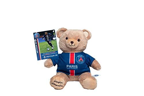Peluche oficial del PSG Neymar Jr – Oso PSG – Peluche oficial del París San germano – Mascota 20 cm