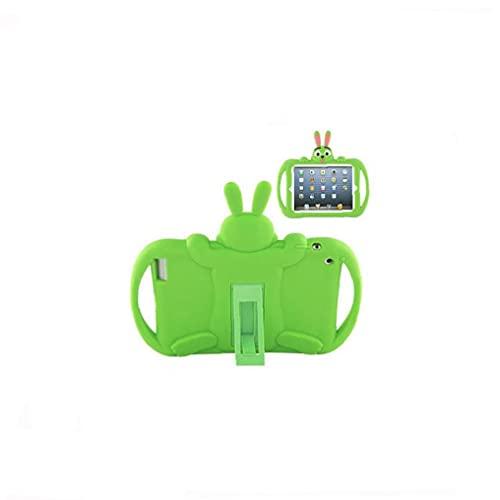 Caja de protección portátil de dibujos animados Compatible con iPad Mini 1 2 3 Niños Soft Silicone Tablet Tapa protectora Amarillo