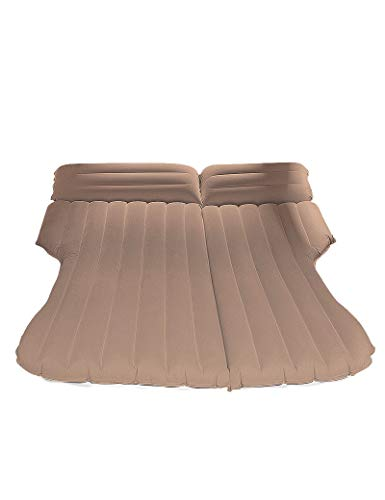 HJQPXD Isomatte, Extra-Dickes Material Auto-Spielraum-Kissen, Multifunktions-Auto aufblasbares Bett, Geeignet for SUV, MPV, Limousine und LKW (Color : Brown)