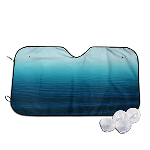 Parasol para Coche,Azul Marino Degradado,Parabrisas de prevención de Calor Parasol Protector de Visera de Rayos UV 55'X29.9'