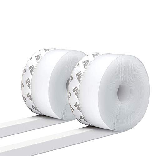 Sealing Strip Silicone, Sealing Tape Window, Winddichter Stecker,Bodendichtung, wetterfestes Silikon(2.5 * 500cm/16ft * 0.98inch, durchscheinend)