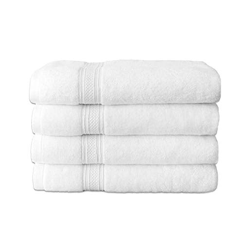 Hurbane Home 4 Piece Bath Towels   These Towels for Bathroom are 100% Cotton Towels   28 x 55 Inch Bathroom Towels are High Absorbents Premium Quality and Long Lasting Daily Use Quick Dry Bath Towels
