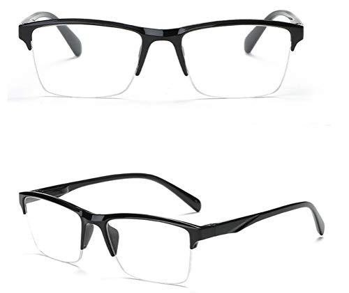 Klassische Halbrahmen Lesebrille Reading Glasses Unisex Dioptrien ¼ Schritte 0,25 Zwischenstärken | + 0,50 bis + 4,0 Dioptrien weitsichtig | HGZ (+ 3,75 Dioptrien)