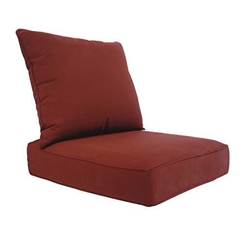 BOSSIMA Outdoor Patio Cushions Deep Seat Chair Cushions Sunbrella Furniture Cushions Burgundy