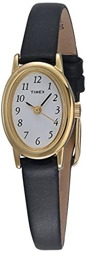 Timex Women's T21912 Cavatina Black Leather Strap Watch