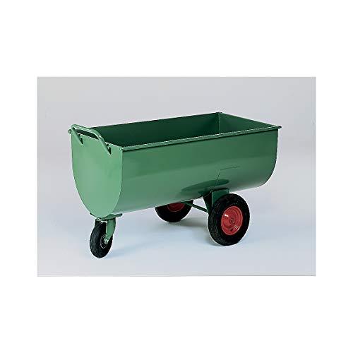 Muldenwagen, 600 l - Luftgummireifen, Höhe ohne Schiebebügel 885 mm - Schubkarren