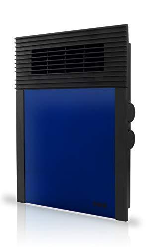 HJM Termoventilador Calefactor Vertical 638 | Suelo y Pared | Silencioso | 1000W-2000W | Azul, Acero