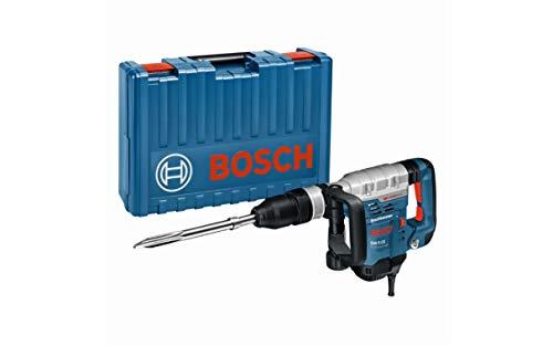 Bosch Professional 0611321000 Martello Demolitore GSH 5 CE con Attacco SDS Plus, Scalpello a Punta 400 mm, Potenza del Colpo: 2-8.3 J, in Valigietta, 1150 W