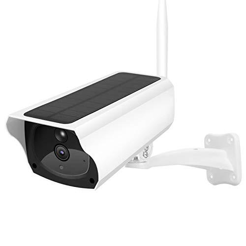 Cámara para Exteriores con energía Solar, 1080P WiFi Cámara IP Cámara de vigilancia de Seguridad para el hogar, Impermeable, visión Nocturna, detección de Movimiento, Control Remoto