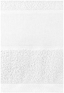 50 x 30 cm, 100/% algod/ón Brandsseller Juego de 10 toallas para invitados color blanco